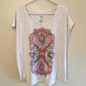 Sonoma beaded patterned T-shirt size 1x